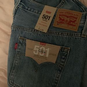 Brand new with tags Levi series 501 taper jeans
